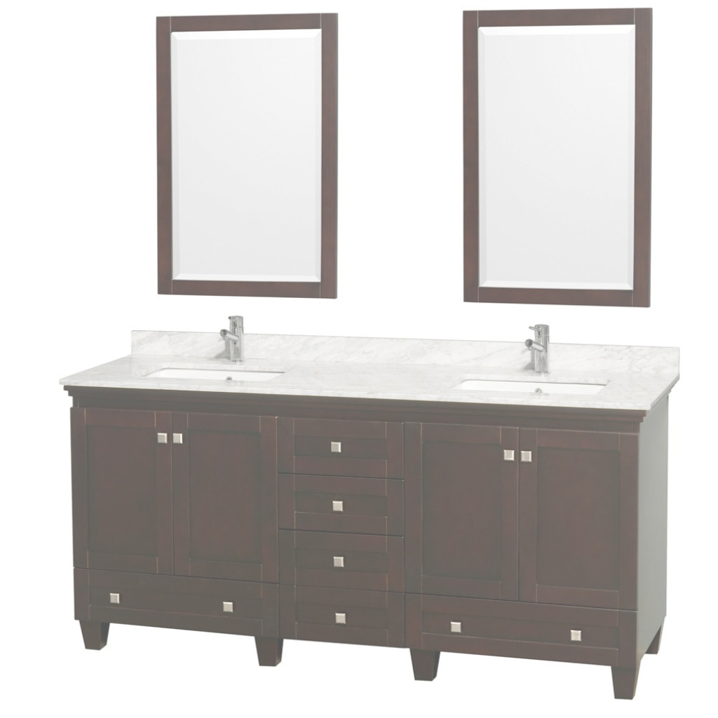 "Epic Acclaim 72"" Espresso Double Bathroom Vanity Set intended for Fresh 65 Inch Bathroom Vanity"