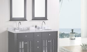 "Epic Adorna 60"" Double Sink Bathroom Vanity Set with regard to New Two Sink Bathroom Vanity"