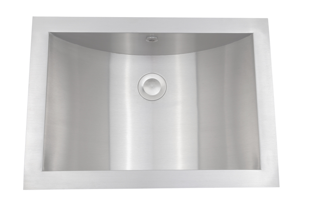 "Epic As344 21"" X 15"" X 6"" 18G Single Bowl Undermount Legend Stainless intended for Luxury Stainless Bathroom Sink"