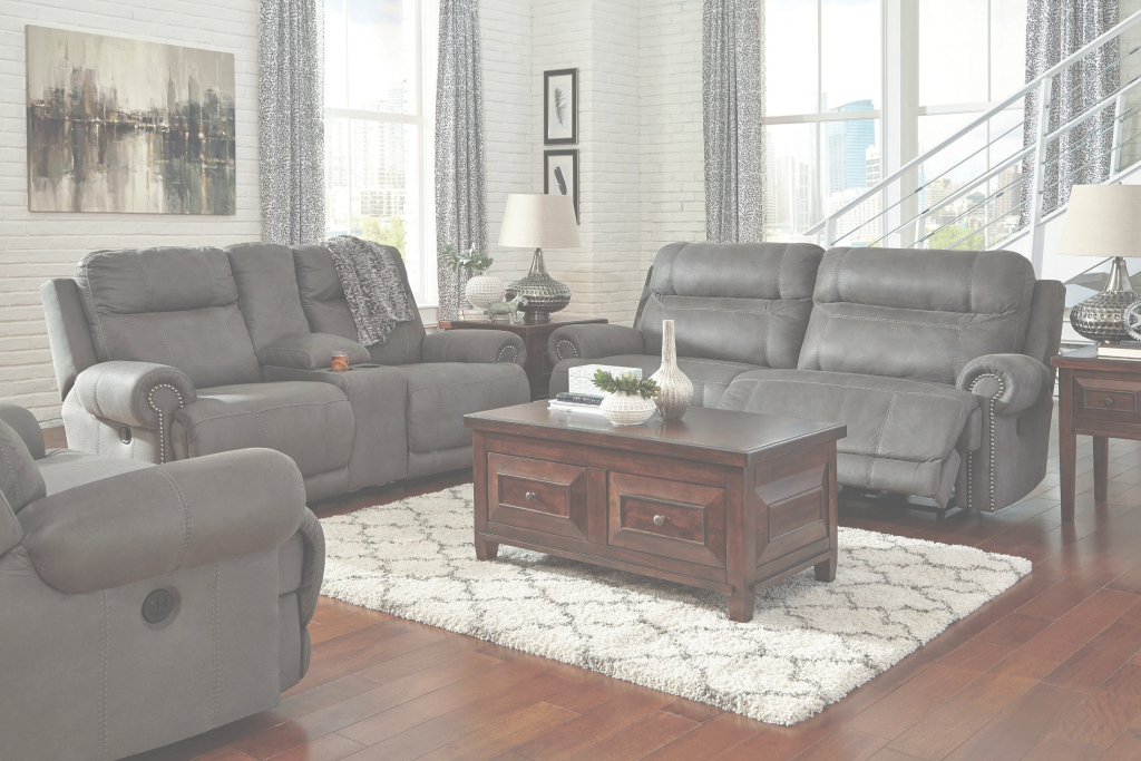 Epic Austere Gray Reclining Living Room Set From Ashley (3840181 in Awesome Grey Living Room Sets