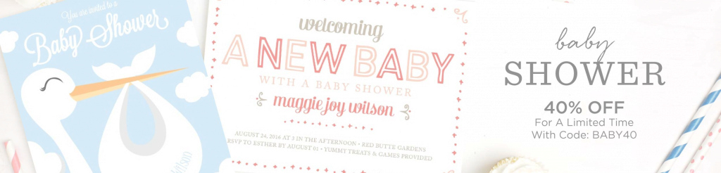 Epic Baby Shower Invitations | 40% Off Super Cute Designs - Basic Invite pertaining to Review Baby Shower Invitations