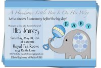 Epic Baby Shower Invitations Ideas For Boy | Omega-Center – Ideas For with New Baby Boy Baby Shower Invitations