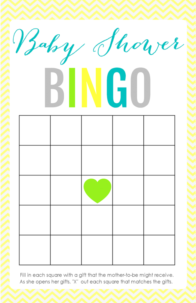 Epic Babyr Bingo Template Free Rules Card Party City Decoration Baby inside Free Baby Shower Bingo
