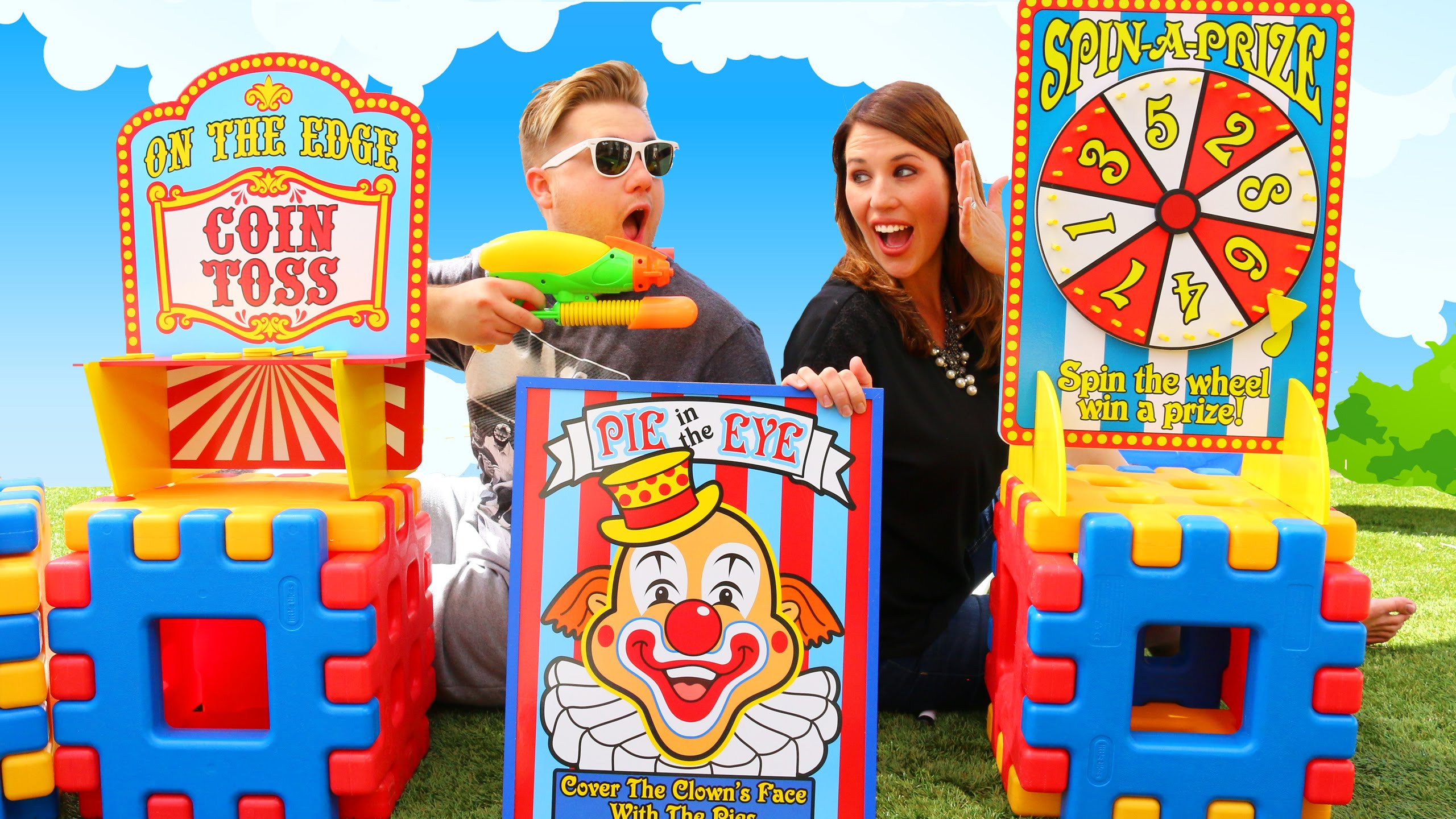 Epic Backyard Carnival Games With A Fun Coin Toss & Spinning Wheel - Youtube for Luxury Backyard Carnival