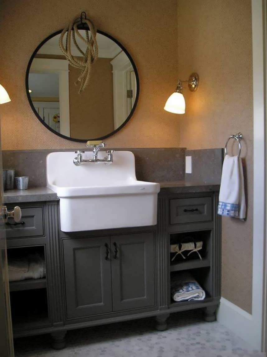 Epic Bathroom : Bathroom Vanity White Farm Vintage Style Licious Bathroom pertaining to Bathroom Farm Sink Vanity