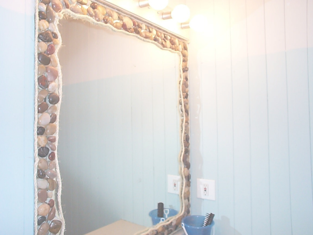 Epic Bathroom: Contemporary Beach Themed Bathroom Decoration With with Awesome Nautical Mirror Bathroom