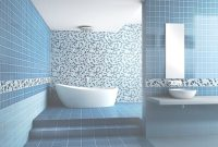 Epic Bathroom : Fascinating Bathroom Best Tile Color Interior Decorating with Blue Mosaic Bathroom
