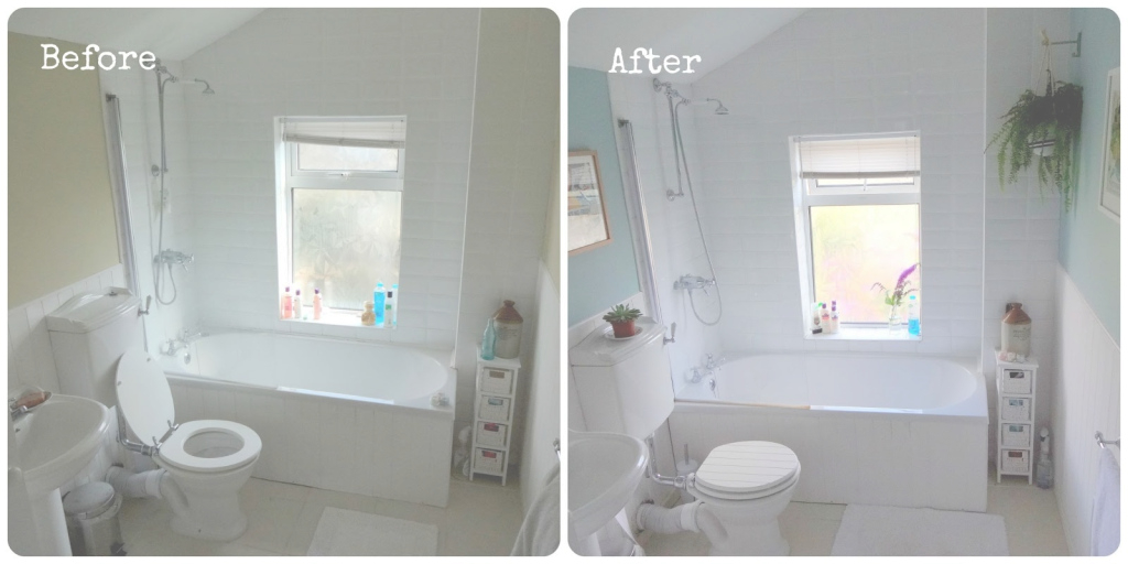 Epic Bathroom Makeover - Before & After | Make Do And Mend in Beautiful Duck Egg Blue Bathroom Ideas