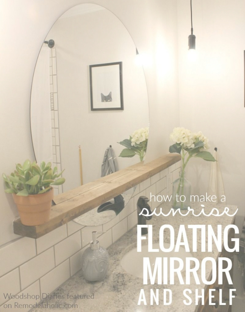 Epic Bathroom Mirror Ideas (Diy) For A Small Bathroom | Pinterest | Round intended for Bathroom Mirror Ideas On Wall