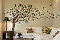 Epic Blowing Leaves Tree Decal – Scheme A throughout Tree Wall Decals For Living Room