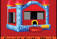 Epic Blue Camelot Castle – Backyard Inflatables pertaining to Backyard Inflatables