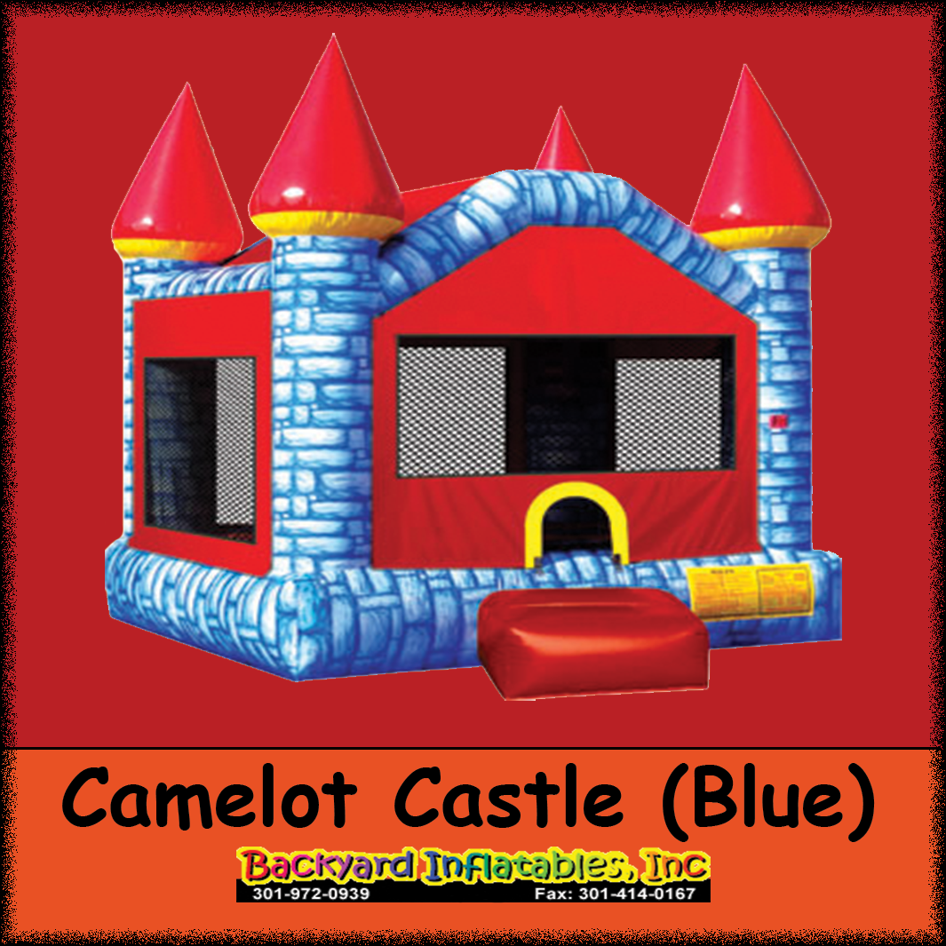 Epic Blue Camelot Castle - Backyard Inflatables pertaining to Backyard Inflatables
