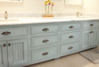 Epic Blue Painted Master Bathroom Vanity Cabinet – Woodwright's Custom in High Quality Master Bathroom Vanity