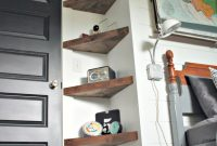 Epic Boy's Bedroom Ideas, Before And After, Plank Wall, Floating Shelves intended for Corner Shelves For Living Room