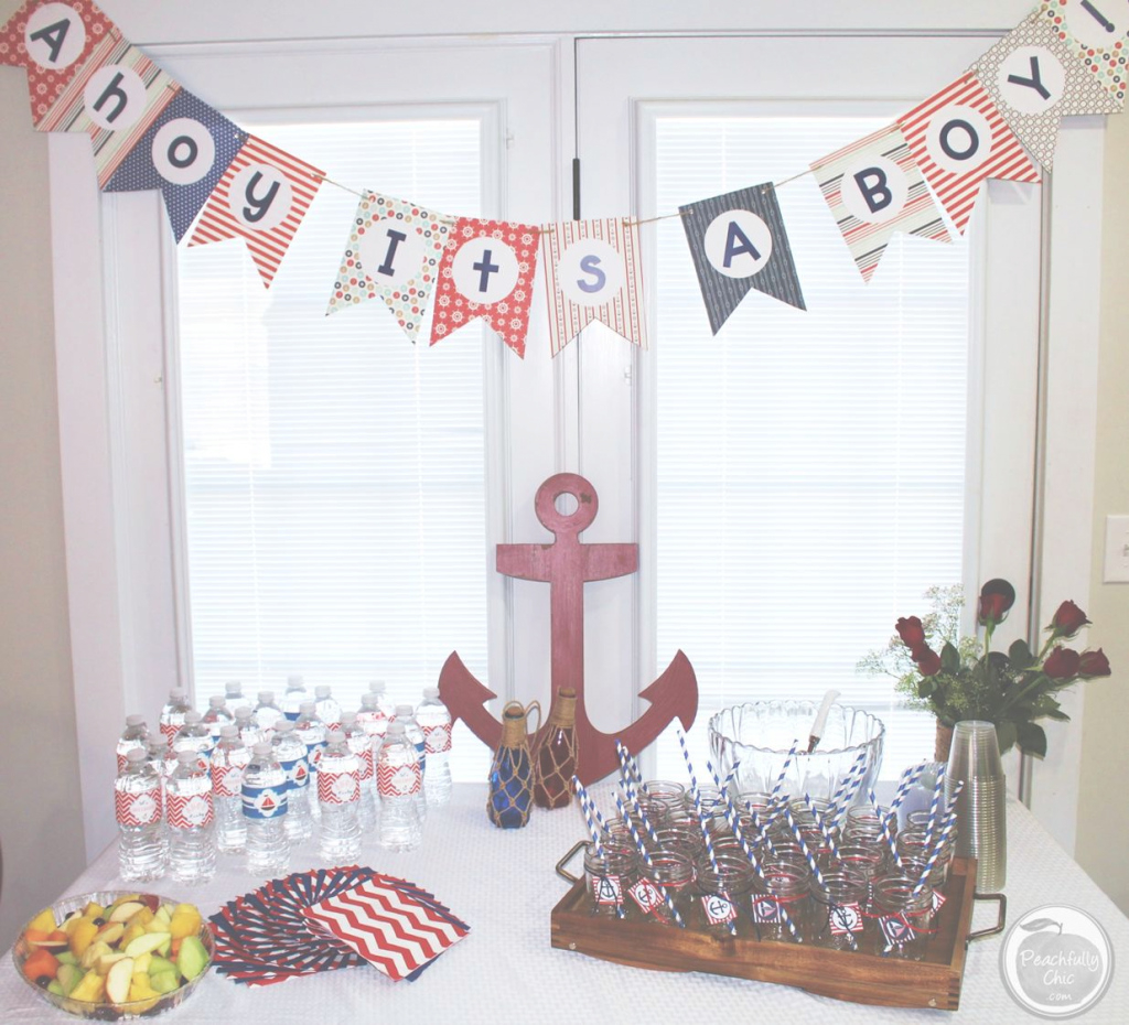 Epic Briliant Nautical Baby Shower Centerpieces 28 - Wyllieforgovernor for Nautical Theme Baby Shower Decorations