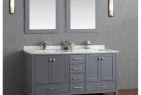 Epic Buy Vincent 72 Inch Solid Wood Double Bathroom Vanity In Charcoal throughout Bathroom Sink And Vanity