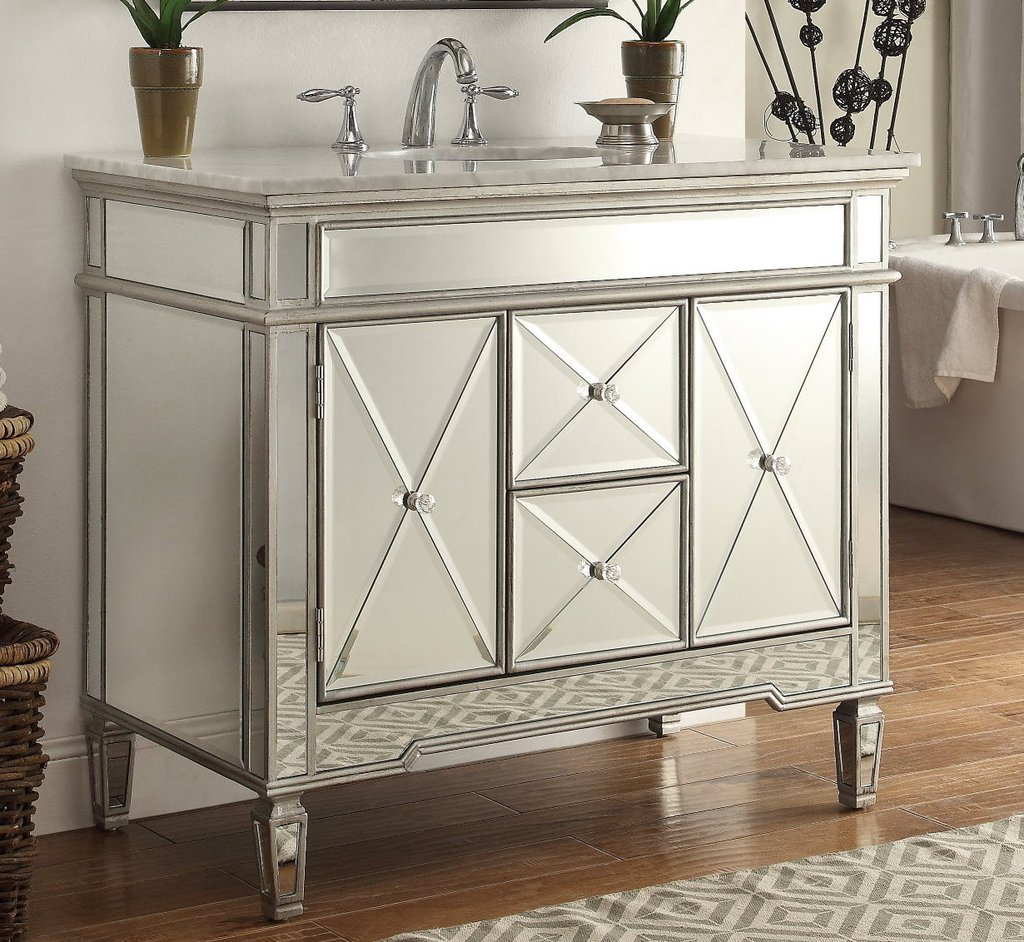 Epic Chans Furniture Adelia 40-Inch Bathroom Vanity Dh-13Q332 (Mirrored regarding Luxury 44 Bathroom Vanity