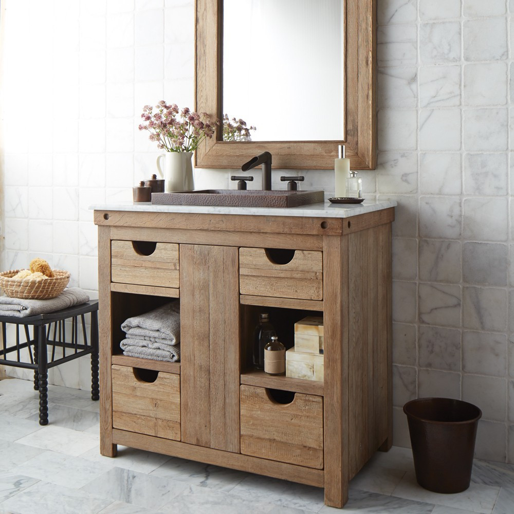 Epic Chardonnay 36-Inch Single Sink Vanity | Native Trails with Bathroom Cabinet Sink