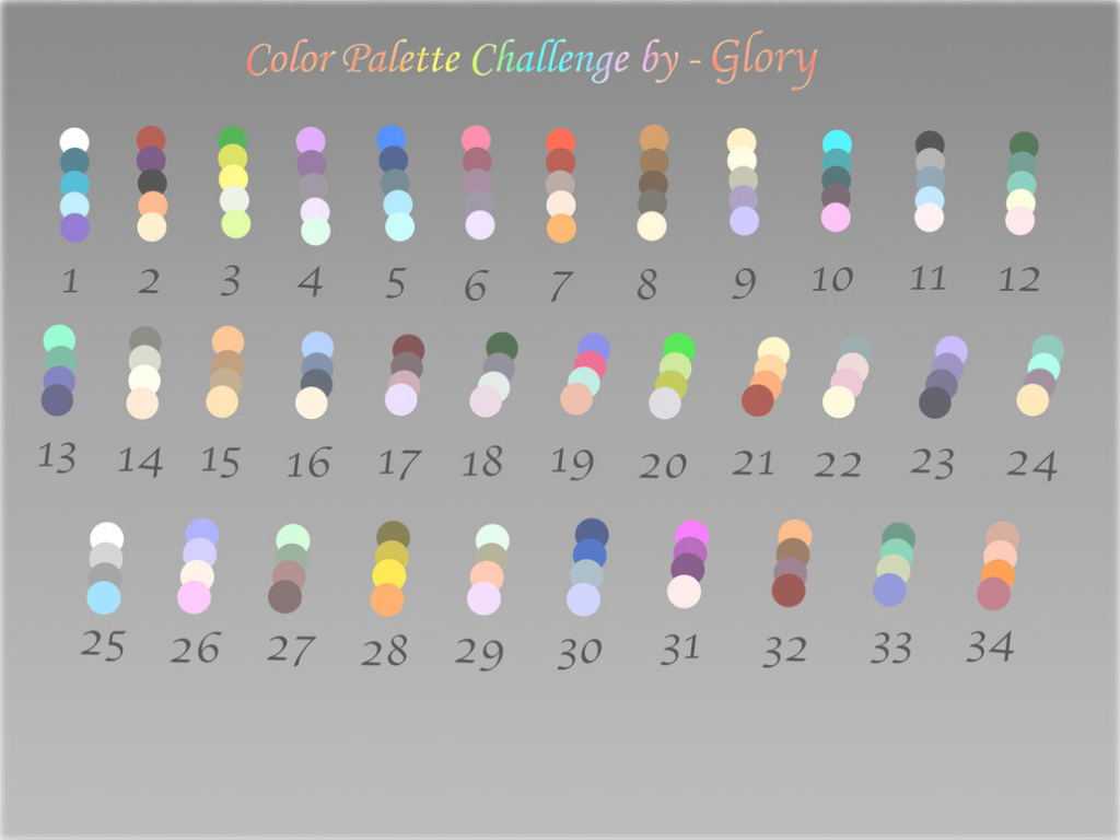 Epic Color Palette Challengegloryadoptable-Horses-Inc On Deviantart within 32 Color Palette
