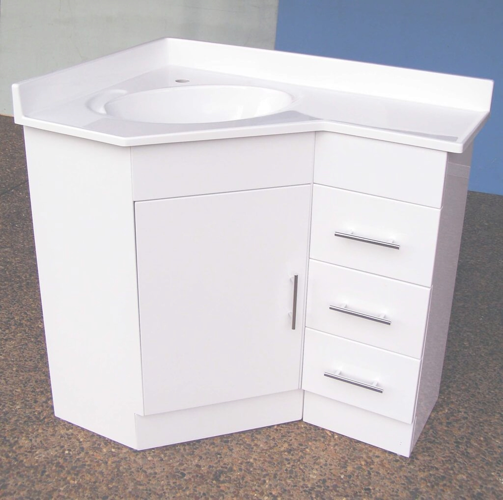 Epic Corner Bathroom Sink Vanity Within With Contemporary In White within Beautiful Corner Bathroom Vanity Sink