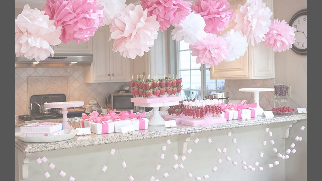Epic Cute Girl Baby Shower Decorations - Youtube pertaining to Baby Shower Decoration
