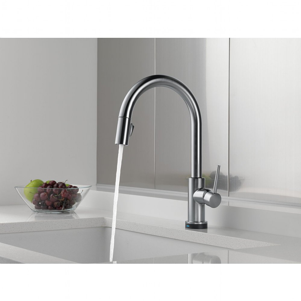 Epic Delta Trinsic Single Handle Pull-Down Kitchen Faucet Featuring within Delta Trinsic Bathroom Faucet