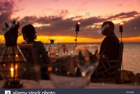 Epic Dining Couple At Restaurant Dining Room At Sunset, Little Palm pertaining to The Dining Room At Little Palm Island