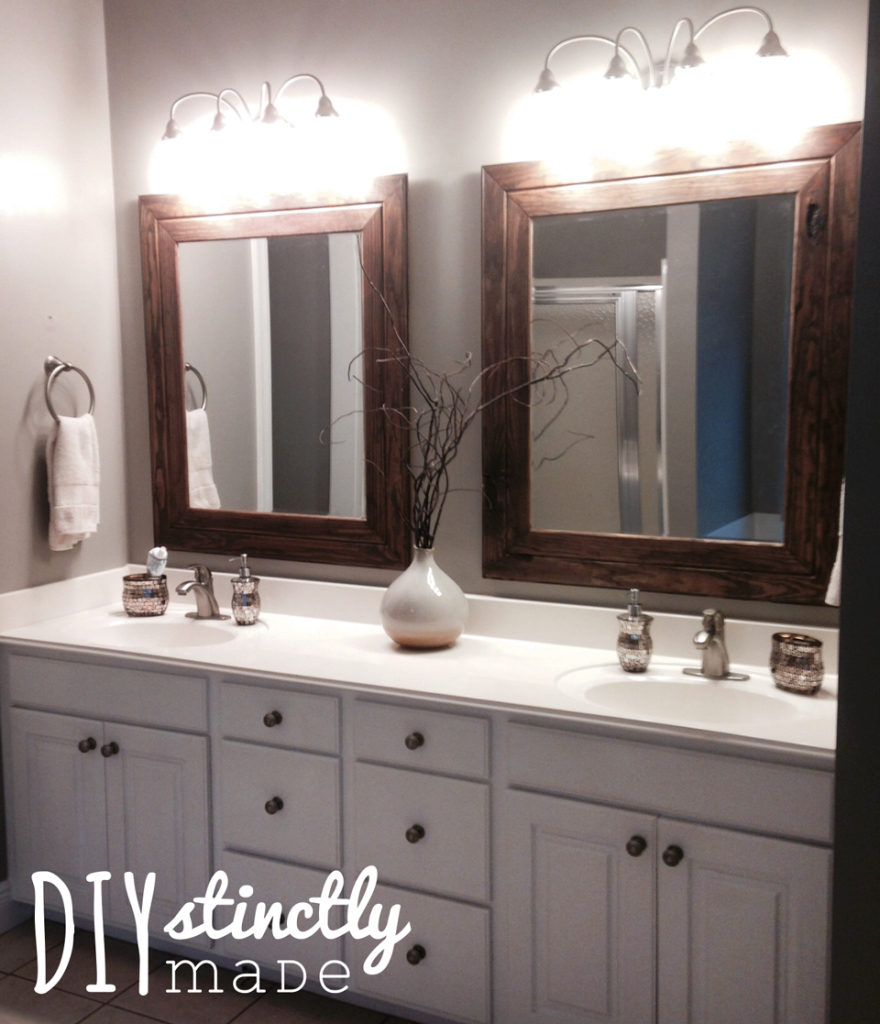 Epic Diy Easy Framed Mirrors – Diystinctly Made regarding Master Bathroom Mirrors