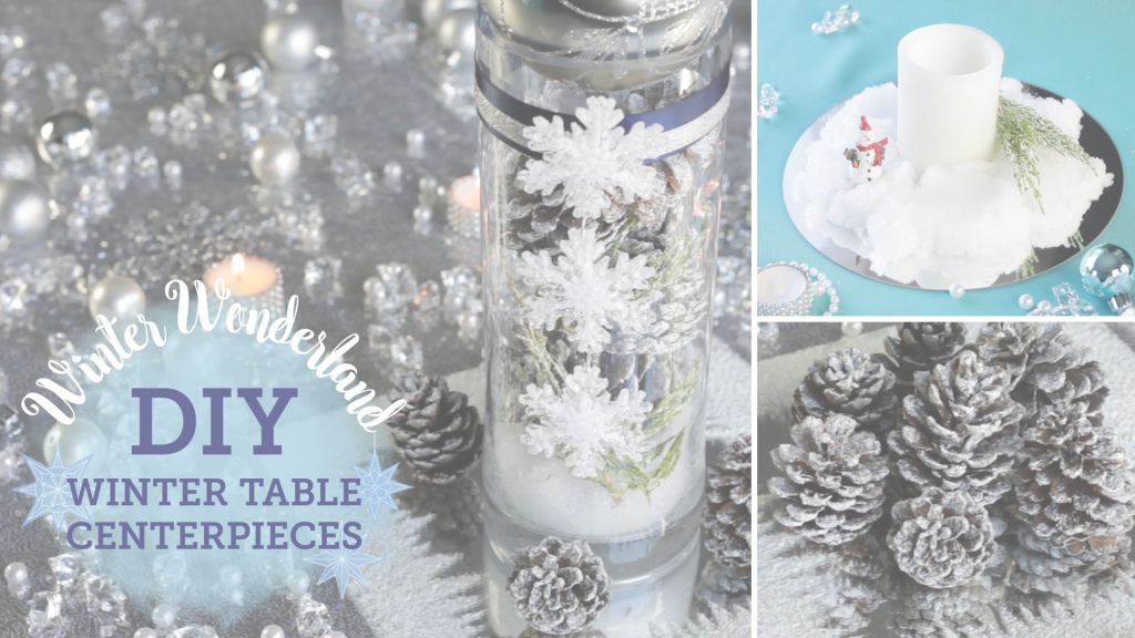 Epic Diy Winter Wonderland: Table Centerpieces (+ Fake Snow with Luxury Winter Wonderland Table Decorations