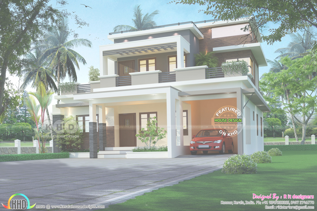Epic ₹52 Lakhs Cost Estimated Contemporary Style House Plan - Kerala intended for Kerala Style House Plans With Cost