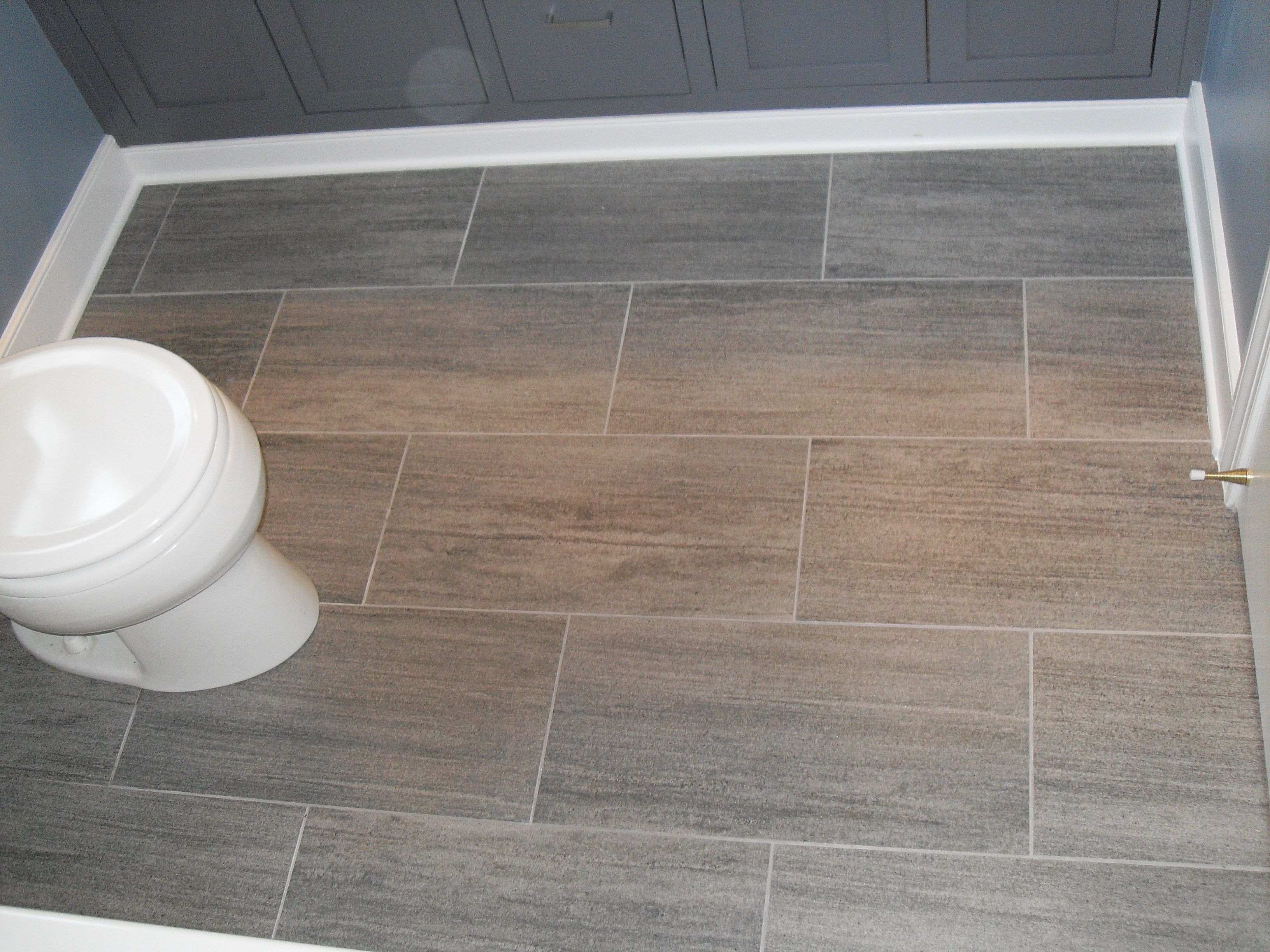 Epic Easy To Keep Clean, Similar To Drift Wood In Tone, Large Tile For intended for Easy To Install Bathroom Flooring
