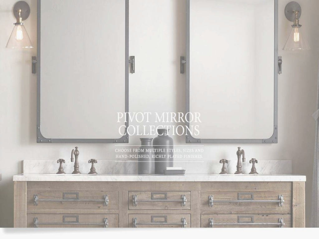 Epic Enchanting Fresh Restoration Hardware Bathroom Pivot Mirror Ideas throughout Pivot Mirror Bathroom