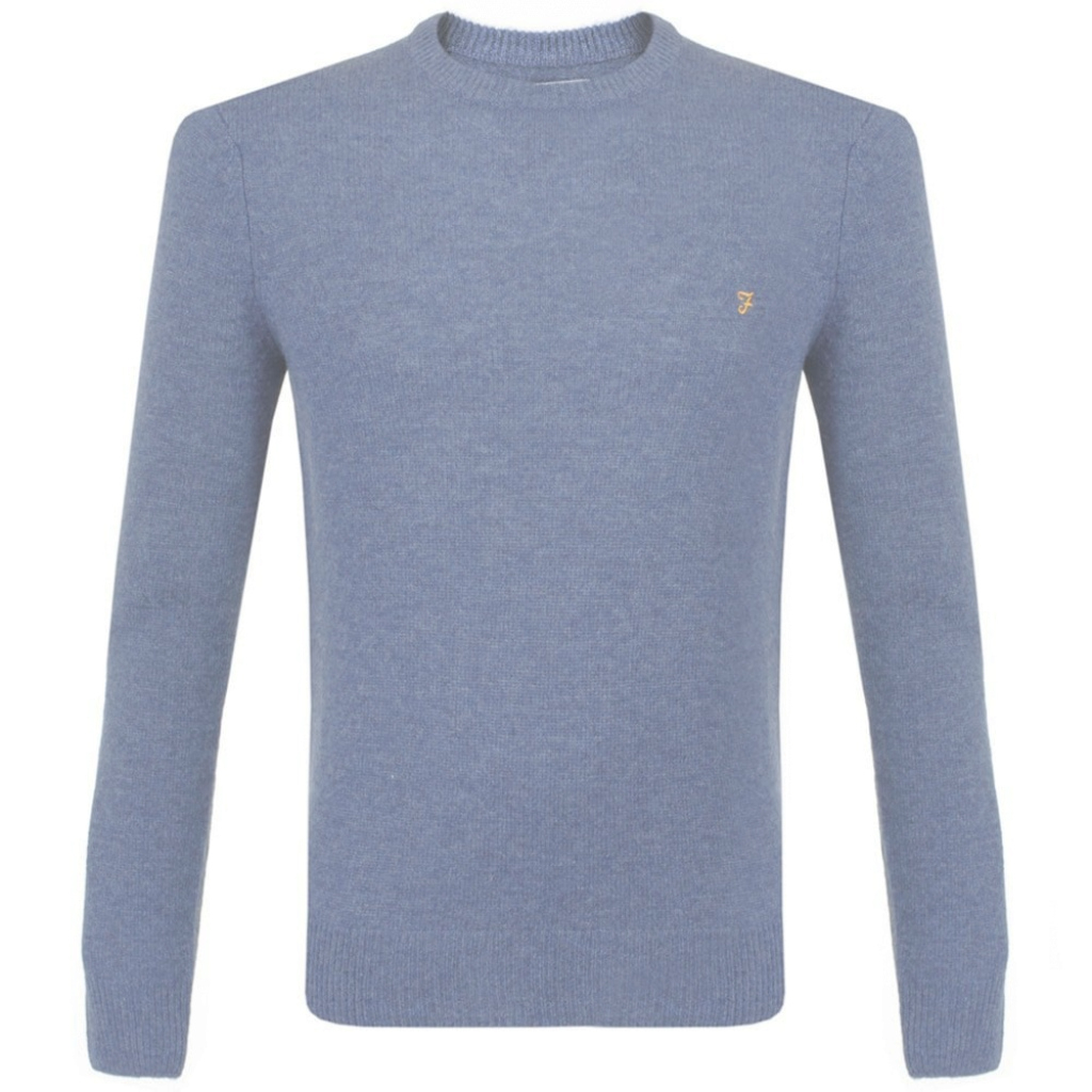 Epic Farah Rosecroft Crew Neck Jumper | Fefg0124 Dusky Blue for Dusky Blue