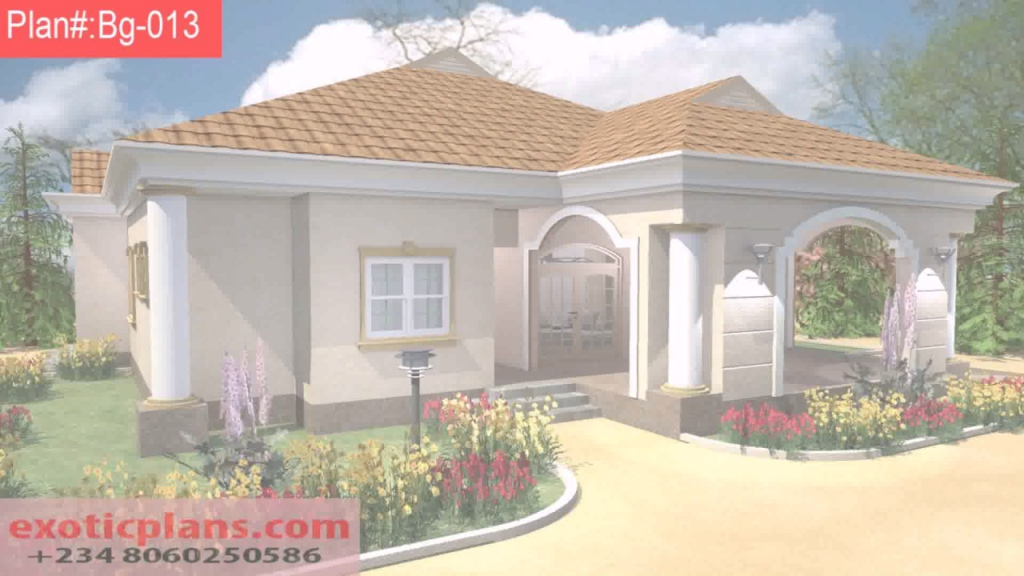 Epic Free 4 Bedroom Bungalow House Plans In Nigeria - Youtube with Nigerian House Plans With Photos