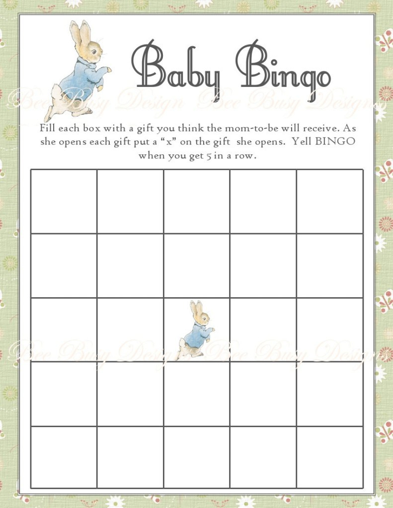 Epic Free Baby Shower Bingo Free Baby Shower Bingo Card Template Free with regard to Free Baby Shower Bingo