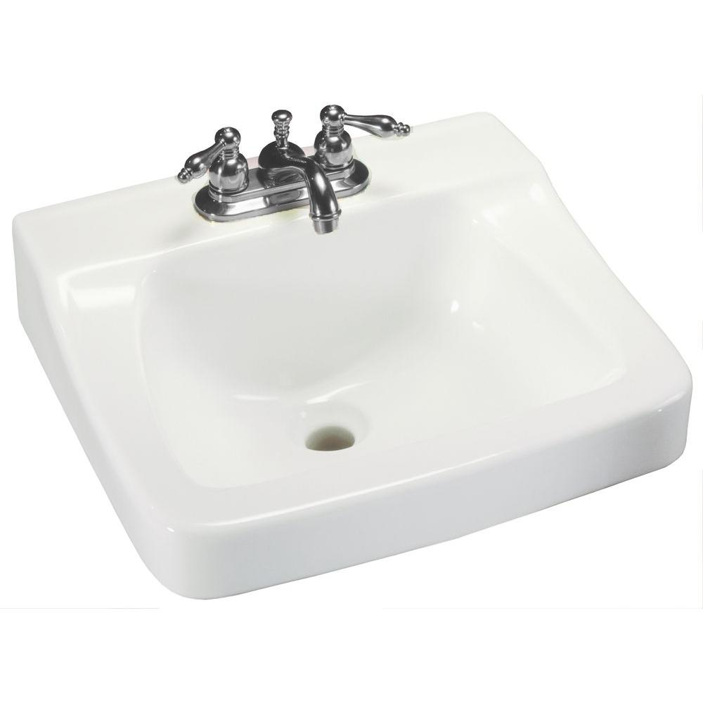 Epic Glacier Bay Aragon Wall-Mounted Bathroom Sink In White-13-0010-Ada throughout Ada Bathroom Sink