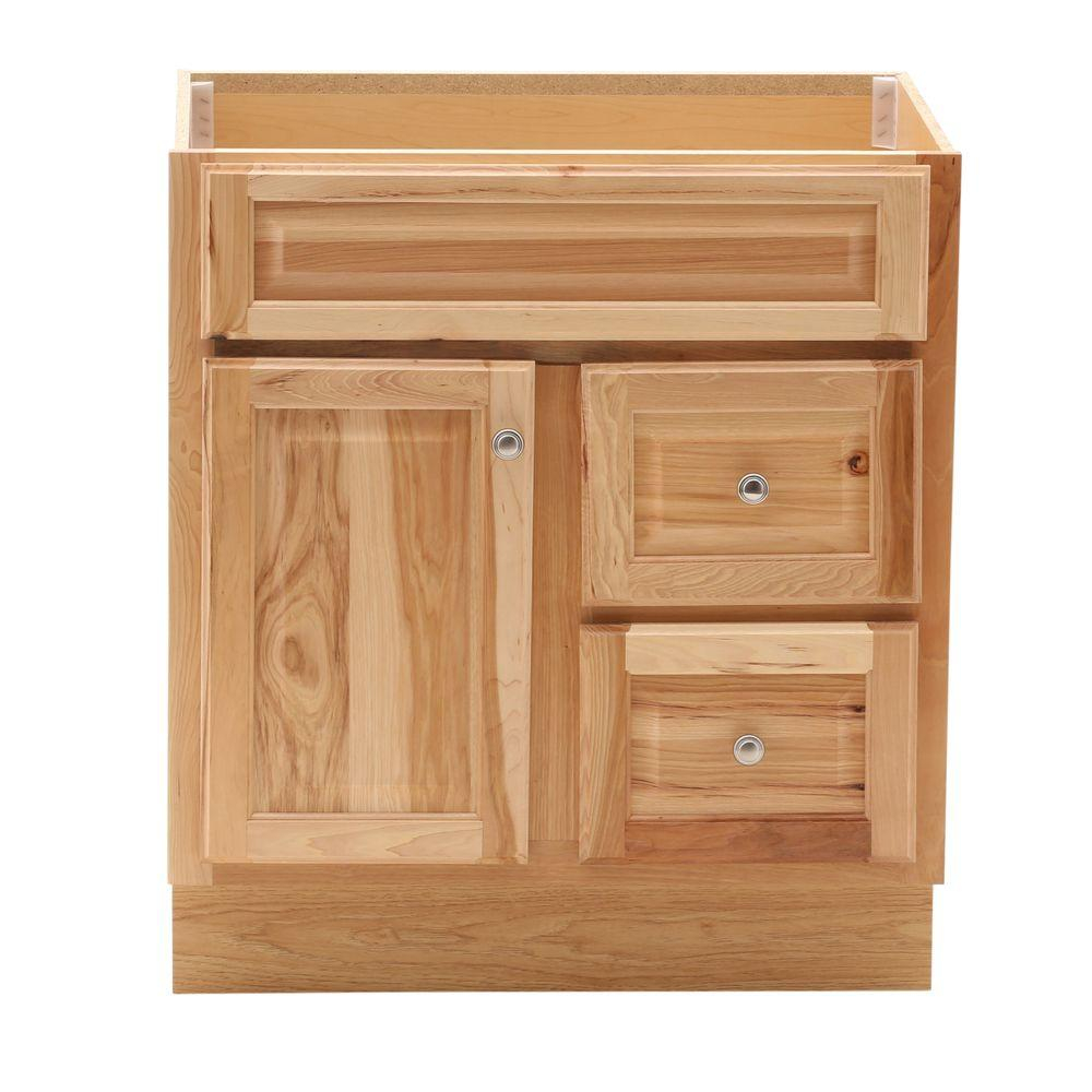 Epic Glacier Bay Hampton 30 In. W X 21 In. D X 33.5 In. H Bath Vanity within Review Natural Wood Bathroom Vanity
