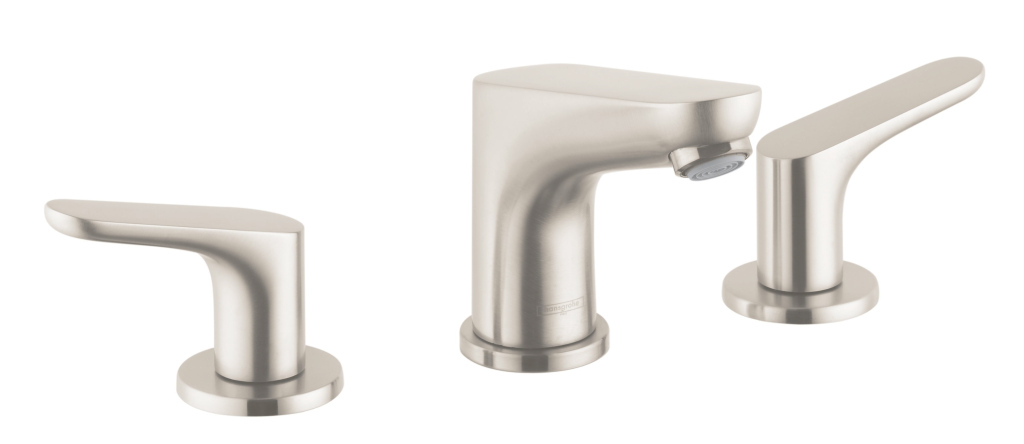 Epic Hansgrohe 04369820 Brushed Nickel Focus 1.2 Gpm Widespread Bathroom in Hansgrohe Bathroom Faucet