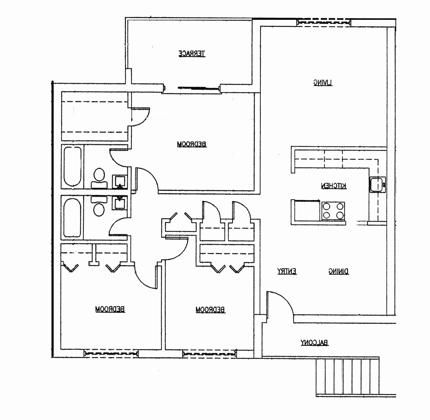 Epic Home Architecture: Bedrooms Floor Plans Story Bdrm Basement The Two pertaining to Small 5 Bedroom House Plans