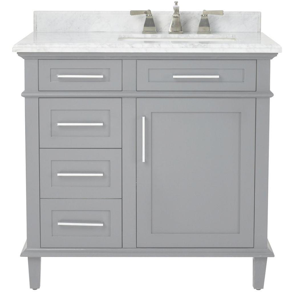 Epic Home Decorators Collection Sonoma 36 In. W X 22 In. D Bath Vanity In with regard to White Bathroom Vanity Home Depot