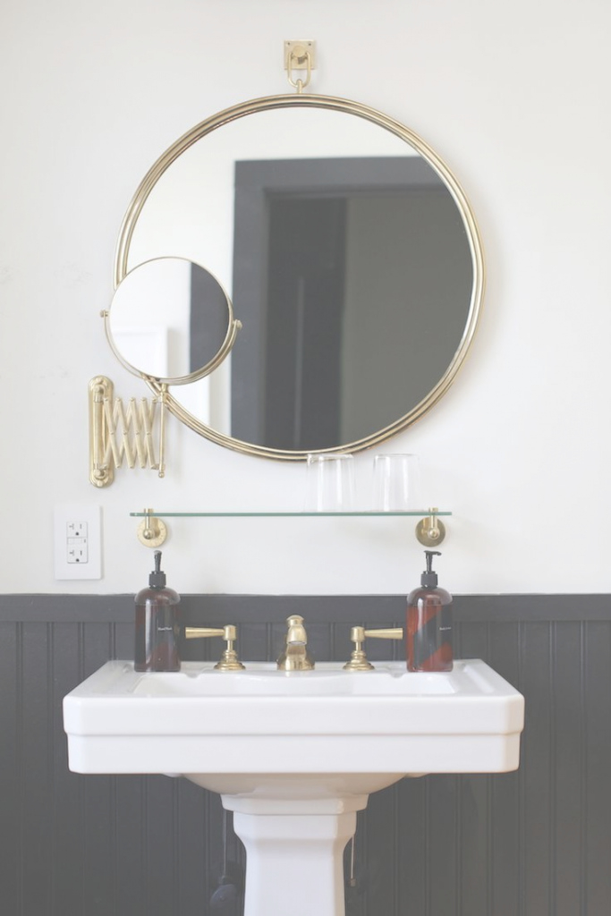 Epic Hooray! We Are Buying A House | Pinterest | Brass Bathroom, Pedestal throughout Brass Bathroom Mirror