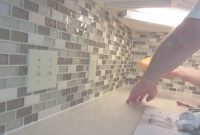 Epic How To Install Glass Mosaic Tile Backsplash, Part 3 Grouting The throughout Elegant How To Grout A Backsplash