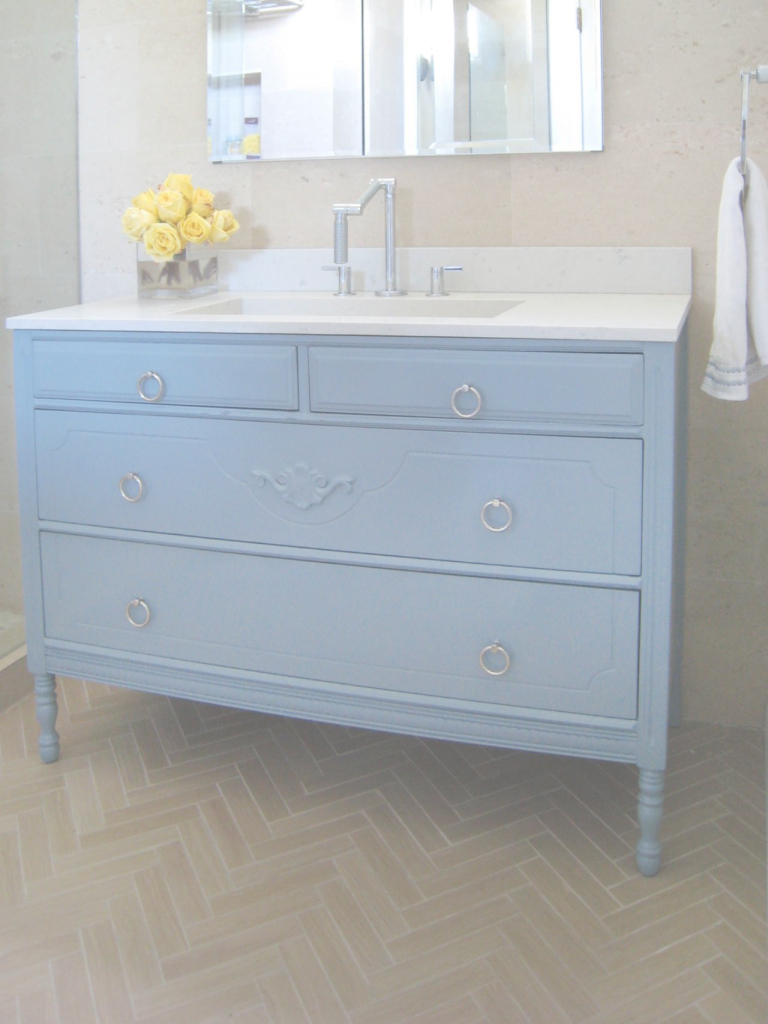 Epic How To Turn A Cabinet Into A Bathroom Vanity | Hgtv intended for Fresh Dresser Bathroom Vanity