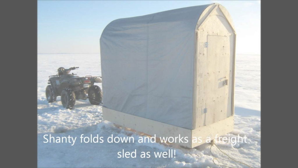 Epic Ice Fishing Shanty Plans..build Your Very Own Q - Youtube regarding Folding Ice Shanty Plans