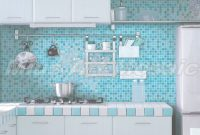 Epic Iridescent Glass Mosaic Tiles Kitchen Mosaic Tile Glass Swimming with Blue Bathroom Mosaic Tiles