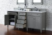 "Epic James Martin Brittany Collection 72"" Double Vanity Urban Gray for Bathroom Vanity No Sink"