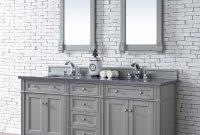 "Epic James Martin Brittany Collection 72"" Double Vanity Urban Gray throughout Bathroom Vanities Double Sink 72"