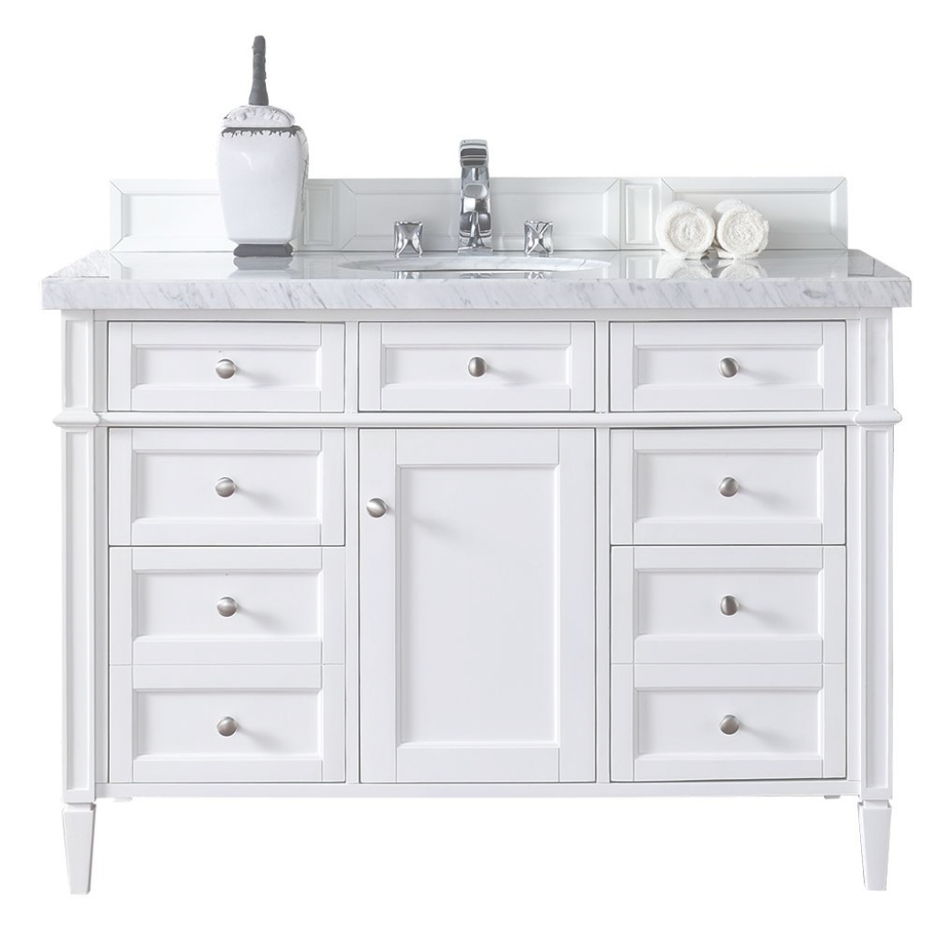 Epic James Martin Signature Vanities Brittany 48 In. W Single Vanity In throughout Review 48 Inch Bathroom Vanity With Top