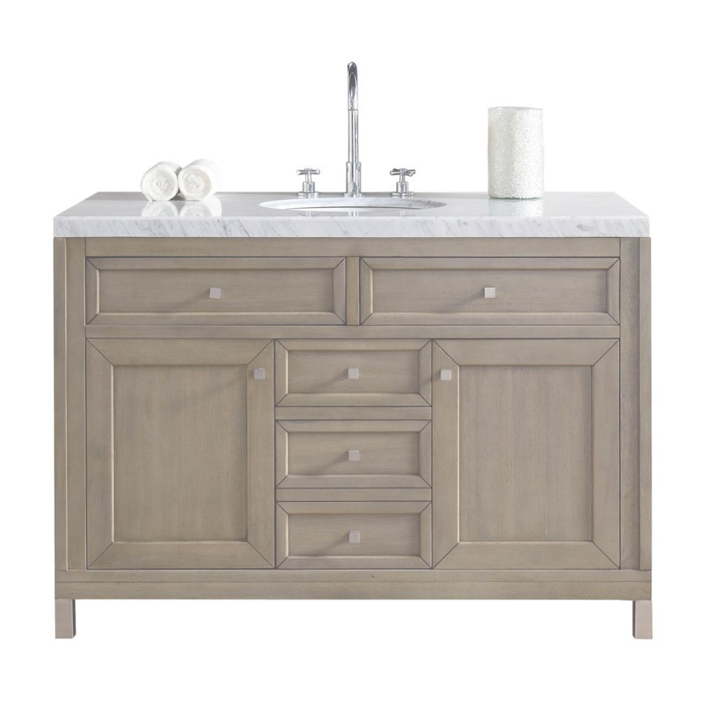 Epic James Martin Signature Vanities Chicago 48 In. W Single Vanity In with regard to James Martin Bathroom Vanities
