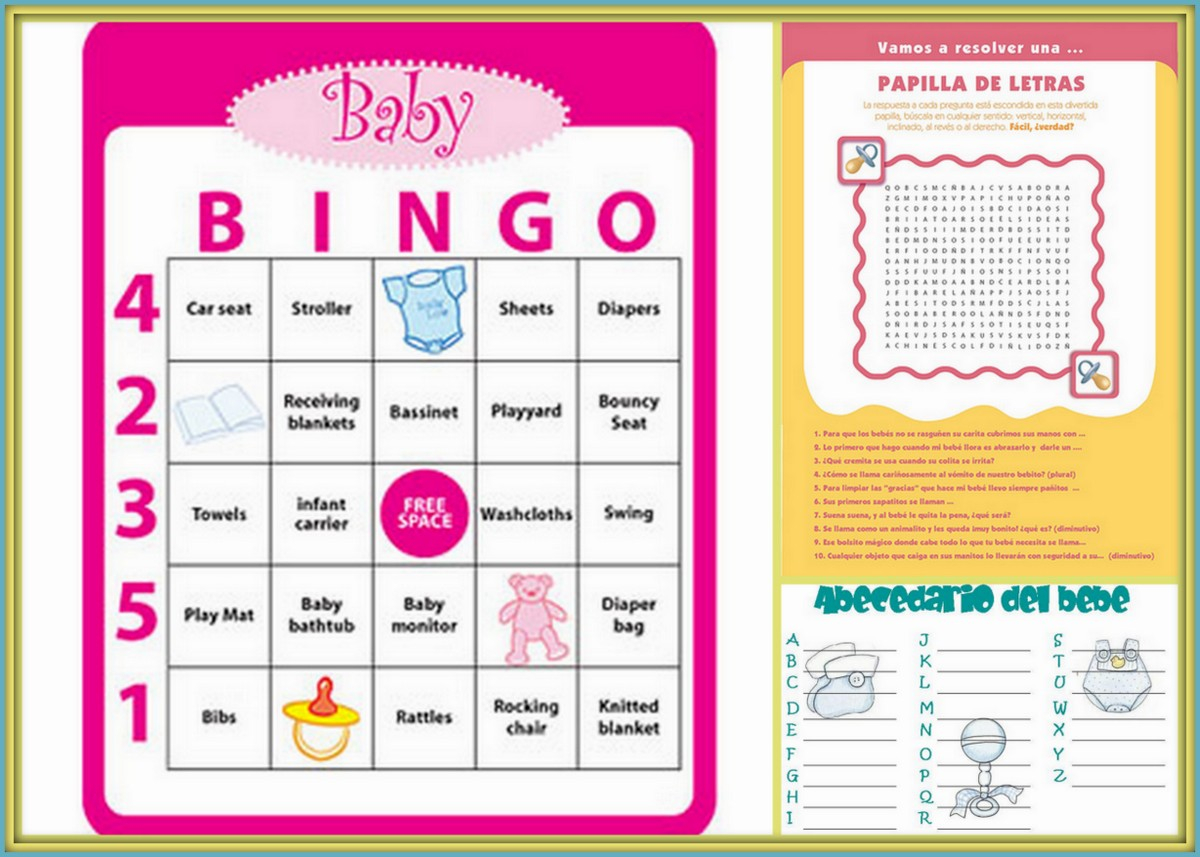 Epic Juegos Baby Shower Para Imprimir | Poussettes pertaining to Juegos Para Baby Shower
